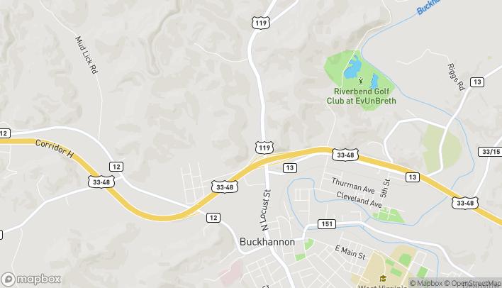 Mapa de 4 Northridge Dr en Buckhannon