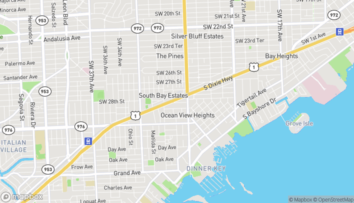 Map of 2720 S Dixie Hwy in Miami