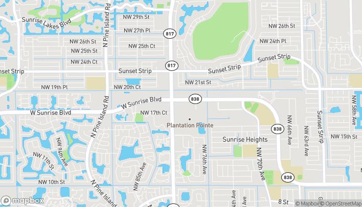 Mapa de 7900 W Sunrise Blvd en Plantation