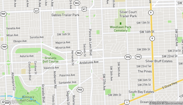 Map of 2261 Ponce De Leon in Coral Gables