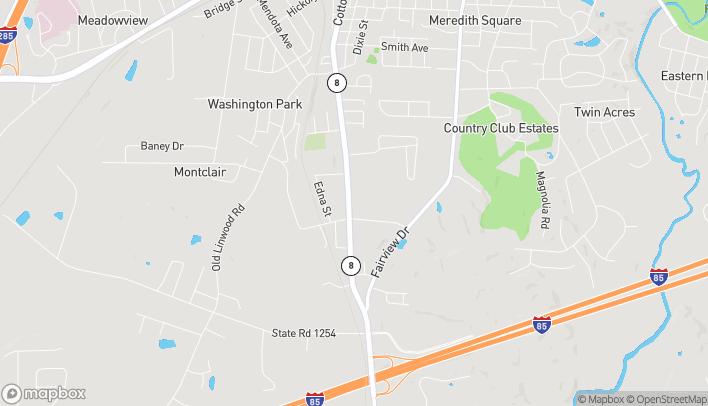 Mapa de 288 Lowes Blvd en Lexington