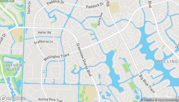 Map of 13860 Wellington Trace in Wellington