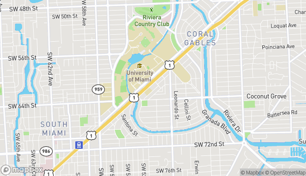 Map of 1234 S Dixie Hwy in Coral Gables