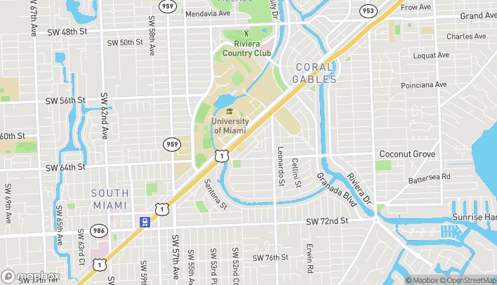 Mapa de 1234 S Dixie Hwy en Coral Gables