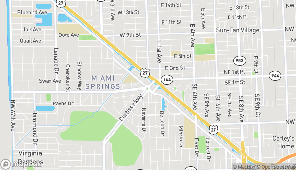 Map of 58 Curtiss Pkwy in Miami Springs
