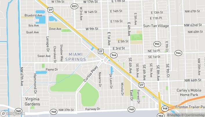Mapa de 58 Curtiss Pkwy en Miami Springs