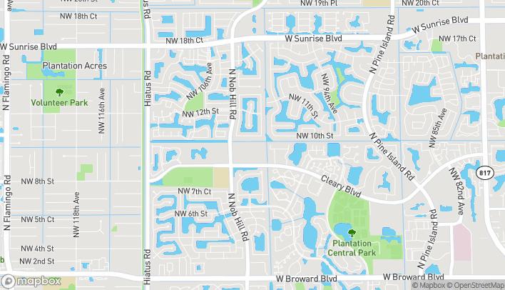 Mapa de 10095 Cleary Blvd en Plantation