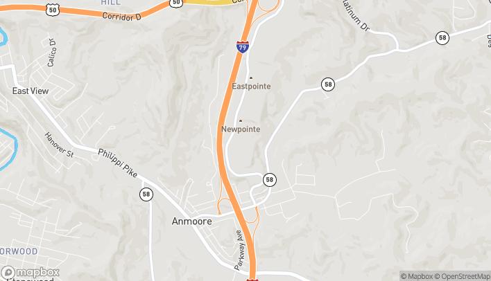 Mapa de 542 Emily Drive en Clarksburg