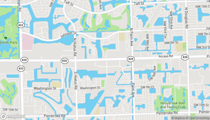 Map of 10630 Pines Blvd in Pembroke Pines