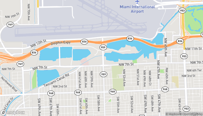 Map of 5707 NW 7th St in Miami