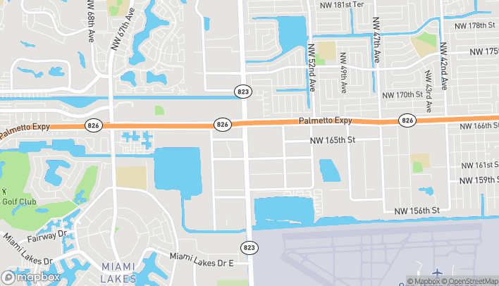 Map of 5644 NW 167th Street in Miami Lakes