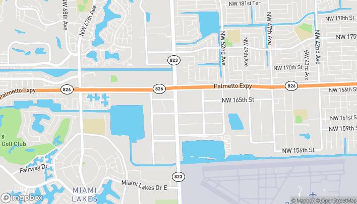 Mapa de 5644 NW 167th Street en Miami Lakes