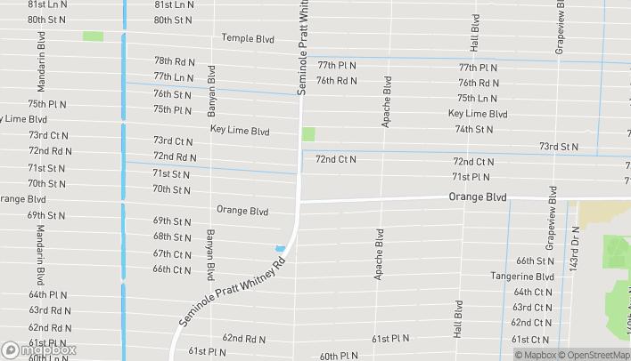 Mapa de 7040 Seminole Pratt Whitney Rd en Loxahatchee