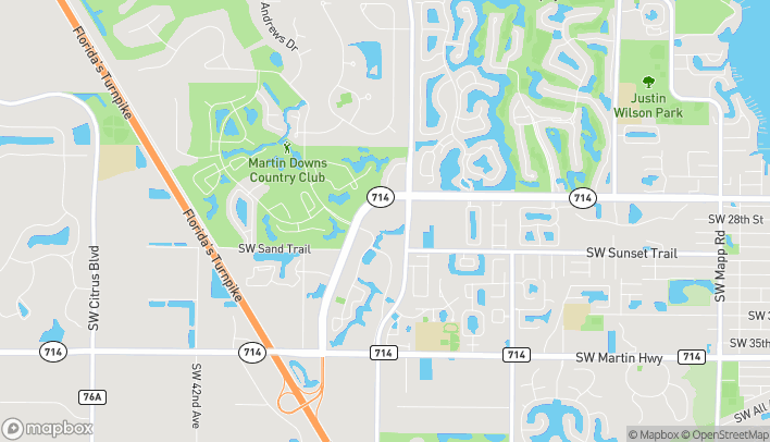 Map of 3108 SW Martin Downs Blvd in Palm City