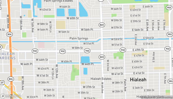 Mapa de 663 W 49th St en Hialeah
