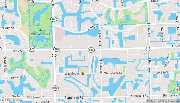 Mapa de 11380 Pines Boulevard en Pembroke Pines