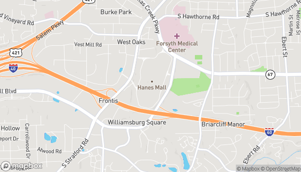 Map of 3320 Silas Creek Pkwy in Winston Salem