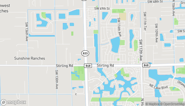 Map of 5650 S Flamingo Rd in Cooper City