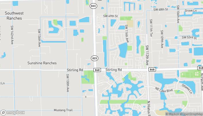 Map of 5650 S Flamingo Rd in Cooper City
