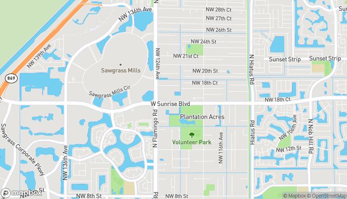 Map of 12231 W Sunrise Blvd in Plantation