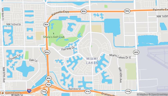 Mapa de 6832 Main Street en Miami Lakes