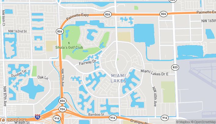 Map of 6832 Main Street in Miami Lakes