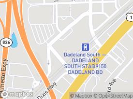 Map Of 9130 South Dadeland Boulevard Miami FL