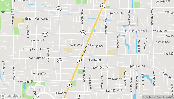 Map of 11769 S. Dixie Hwy in Miami