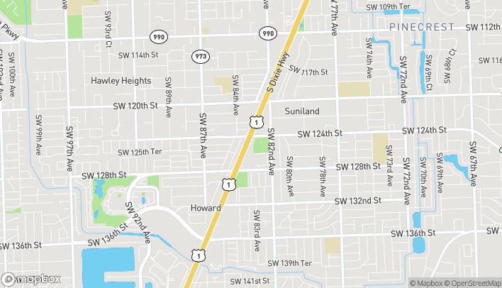 Mapa de 12451 South Dixie Hwy en Miami