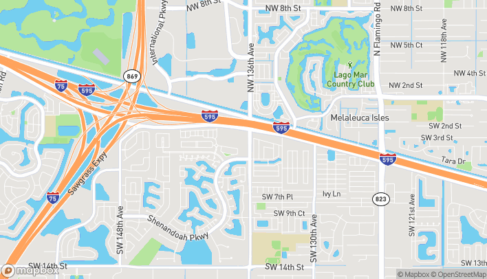 Map of 13608 W State Road 84 in Davie