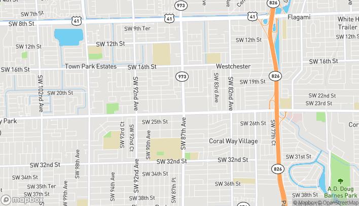 Mapa de 8727 SW 24th St en Miami