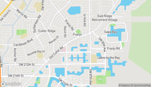Map of 20439 Old Cutler Rd in Miami