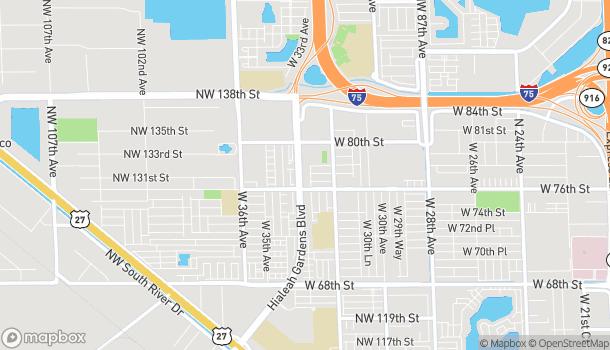 Mapa de 7725 W 33rd Ave en Hialeah