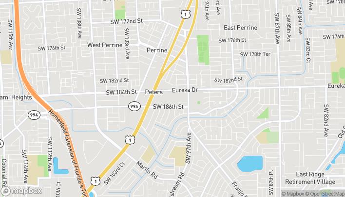 Mapa de 18477 S Dixie Hwy en Miami