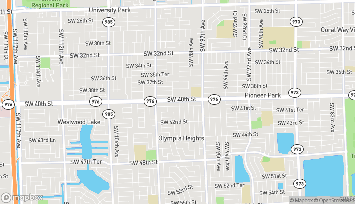 Map of 9900 SW 40th Street in Miami