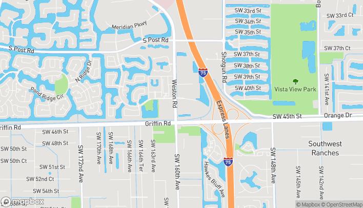 Map of 4444 Weston Rd in Davie