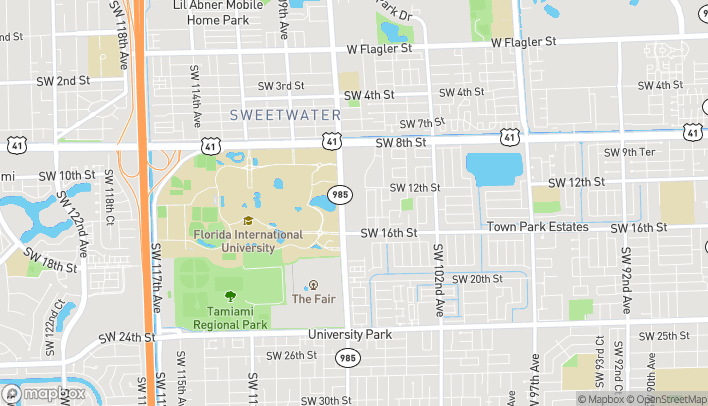 Map of 1317 SW 107th Ave in Miami