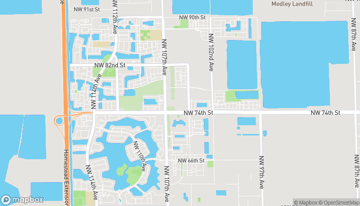 Map of 7520 NW 104th Ave in Doral