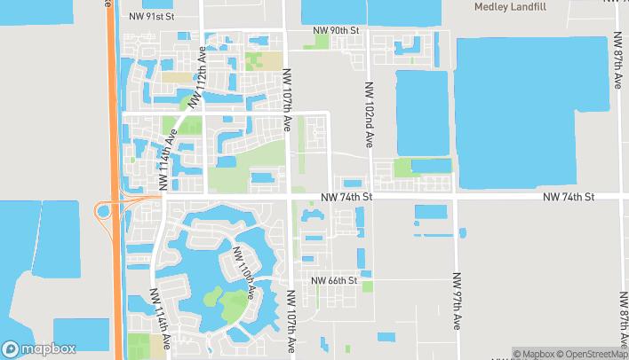 Mapa de 7520 NW 104th Ave en Doral