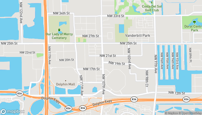 Map of 2086 NW 107th Ave in Miami