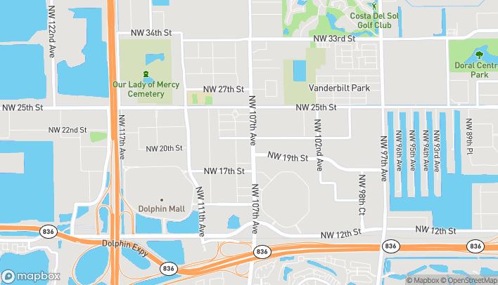 Mapa de 2086 NW 107th Ave en Miami