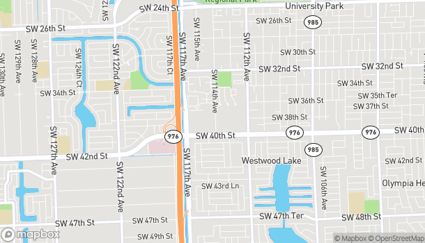 Map of 11441 SW 40th Street in Miami