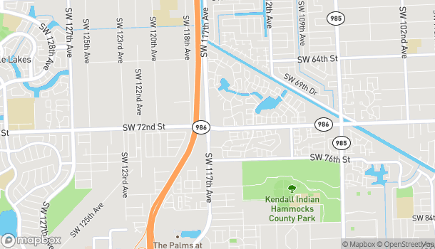 Map of 7177 SW 117th Ave in Miami
