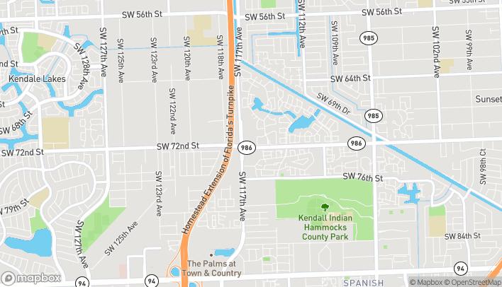 Mapa de 7177 SW 117th Ave en Miami