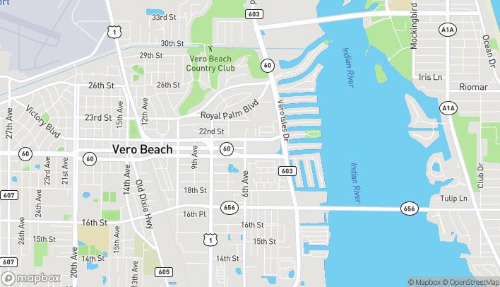 Map of 2048 Treasure Coast Plaza in Vero Beach