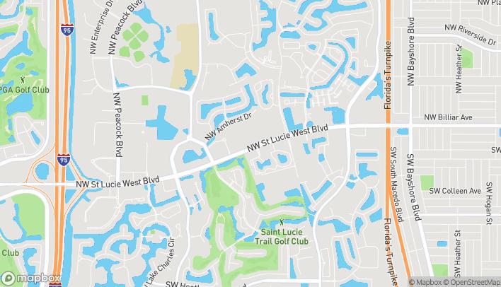 Mapa de 1395 NW St. Lucie West Blvd en Port St. Lucie