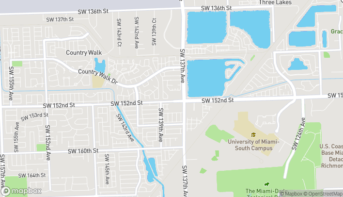 Map of 13781 SW 152nd Street in Miami