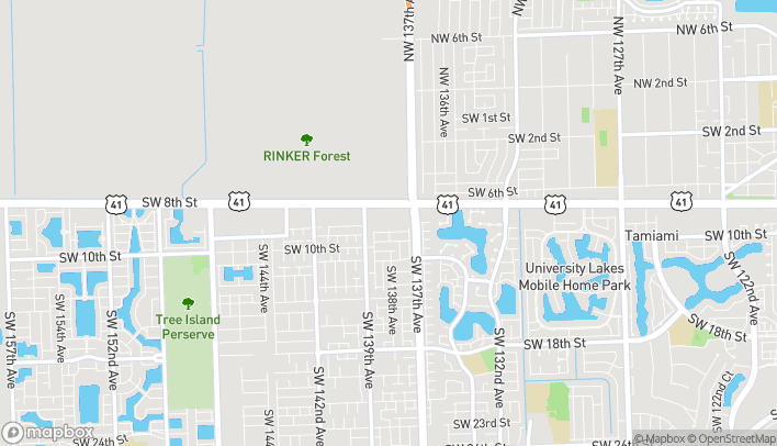 Map of 13796 SW 8th Street in Miami
