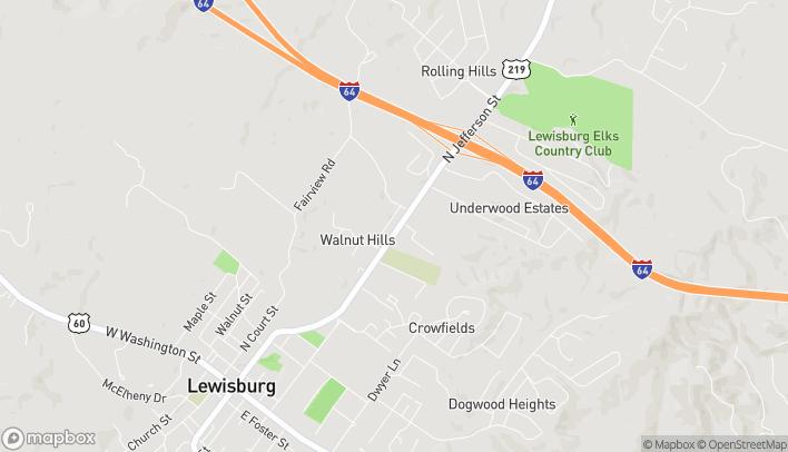Mapa de 213 Gateway Blvd en Lewisburg