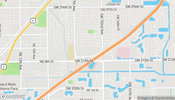 Map of 2555 NE 10th Ct. Homestead in Homestead